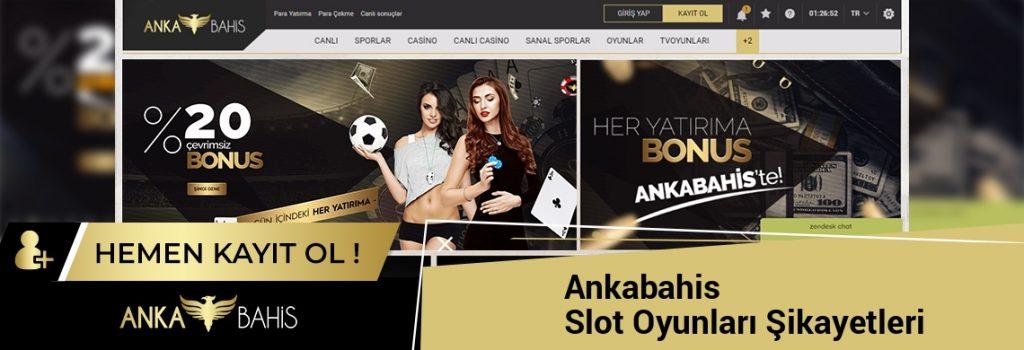 Ankabahis Slot Oyunları Şikayetleri